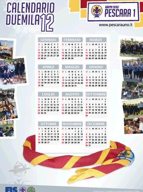 calendario scout 2012